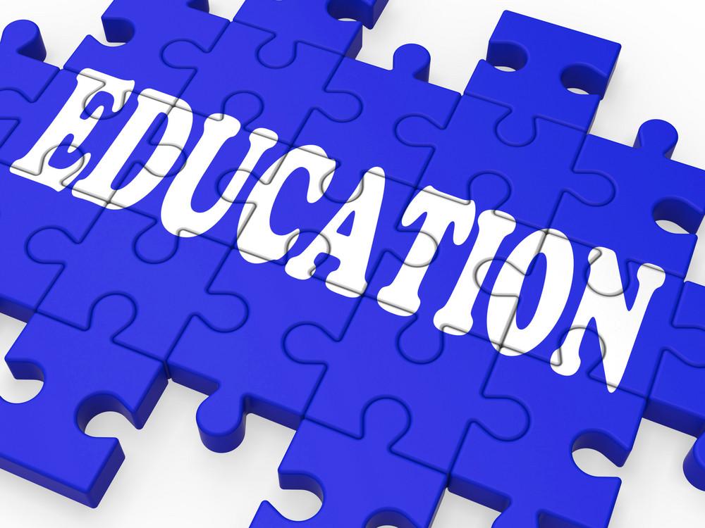 Education Puzzle Showing University Studies