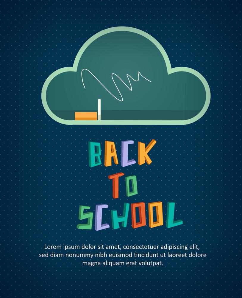 Education Vector Illustration With Blackboard (editable Text)