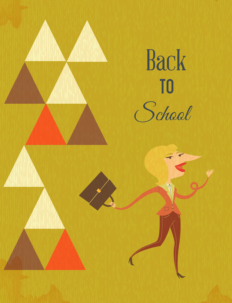 Education Vector Illustration With School Pupil (editable Text)
