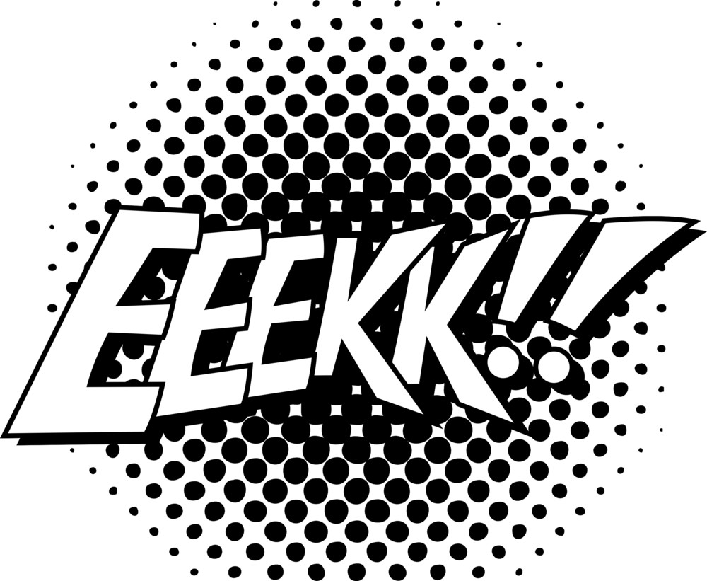 Eeek Comic Text In Etro Style Vector