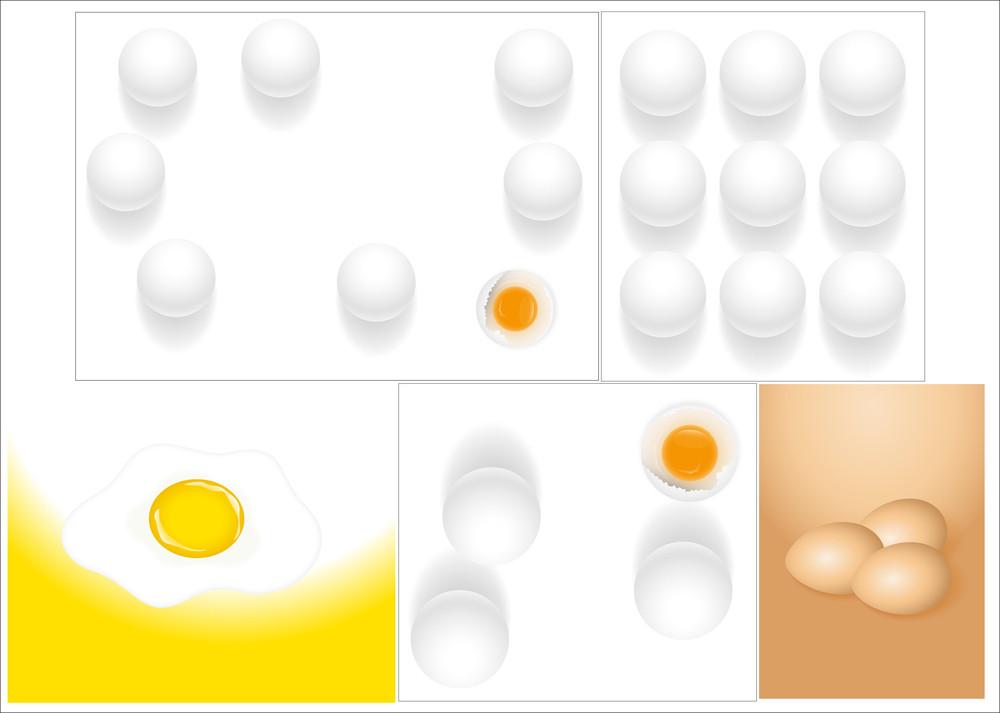 Eggs Vector Backgrounds