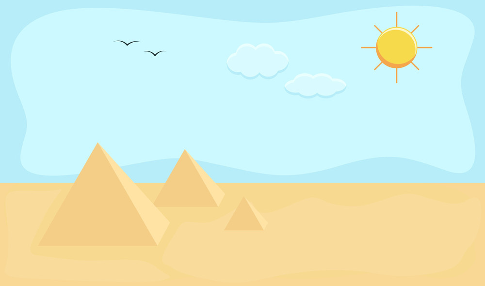 Egypt - Cartoon Background Vector