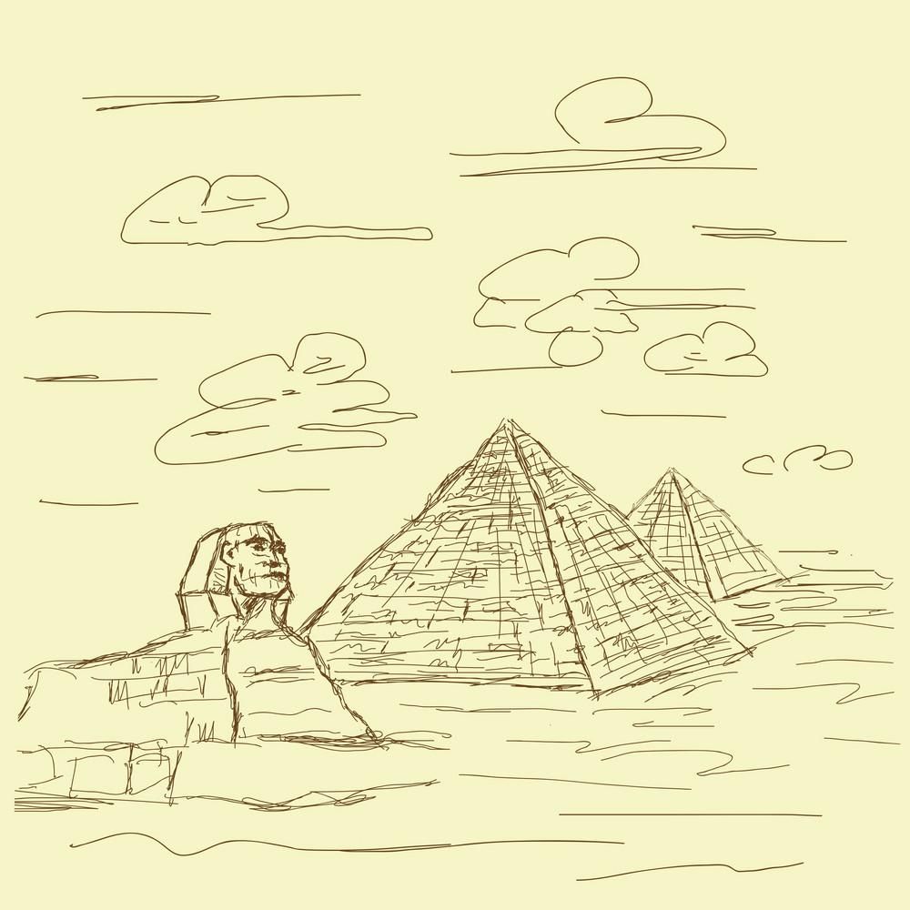 Egypt Pyramid Vintage