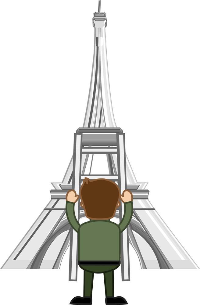 Eiffel Tower Vector Cartoon