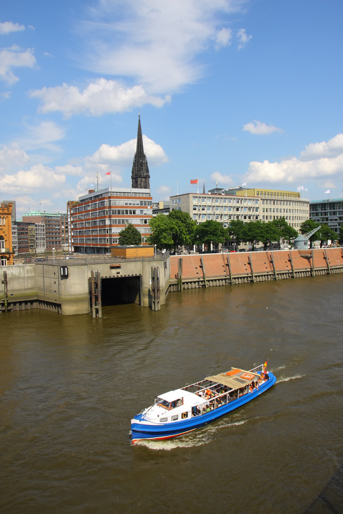 Elbe River In Hamburg