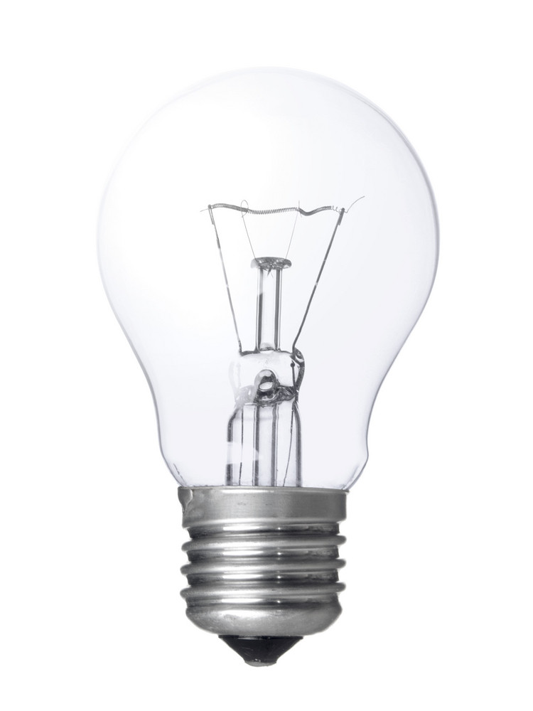 Electric Bulb Isolated On White