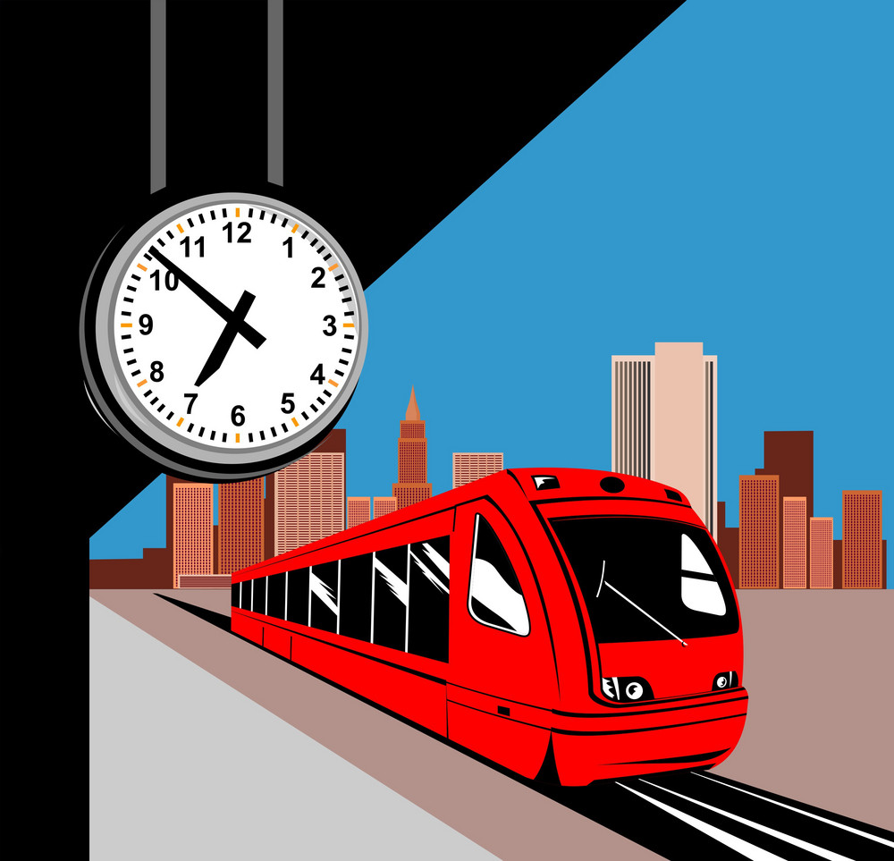 Electric Monorail Passenger Train