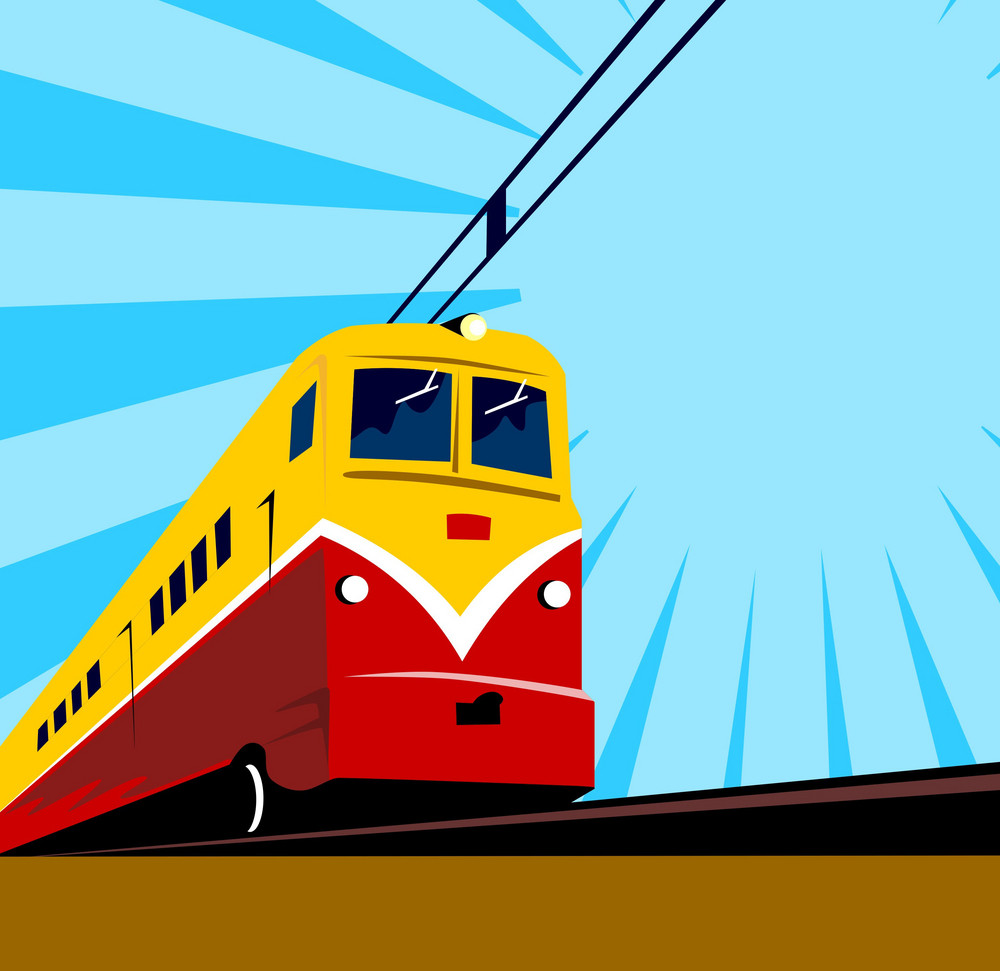 Electric Passenger Train Retro