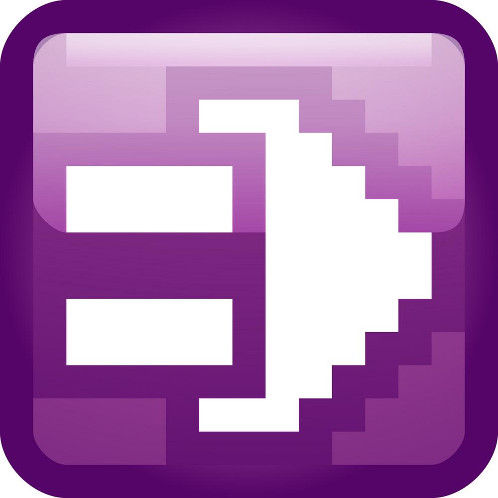 Electric Plug Purple Tiny App Icon