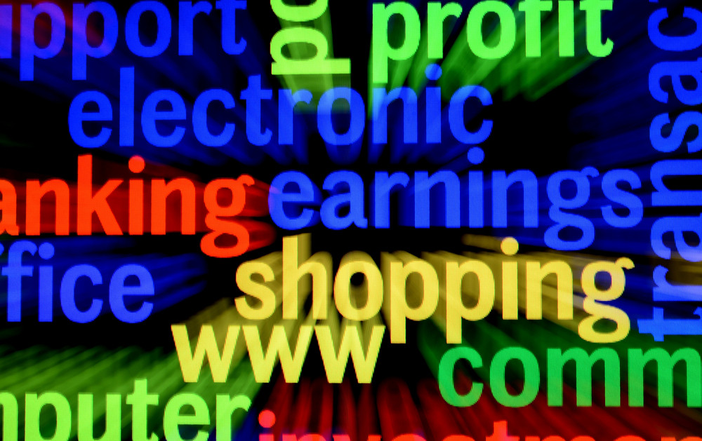Electronic Shopping Concept