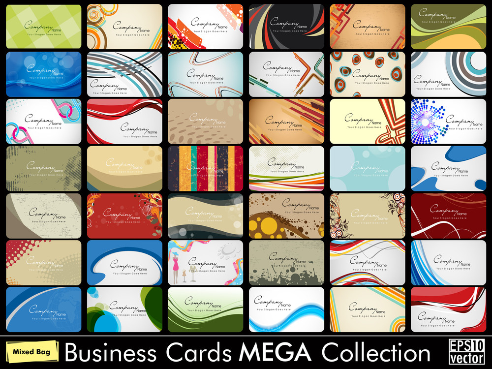 Elegant Abstract Vector Business Cards