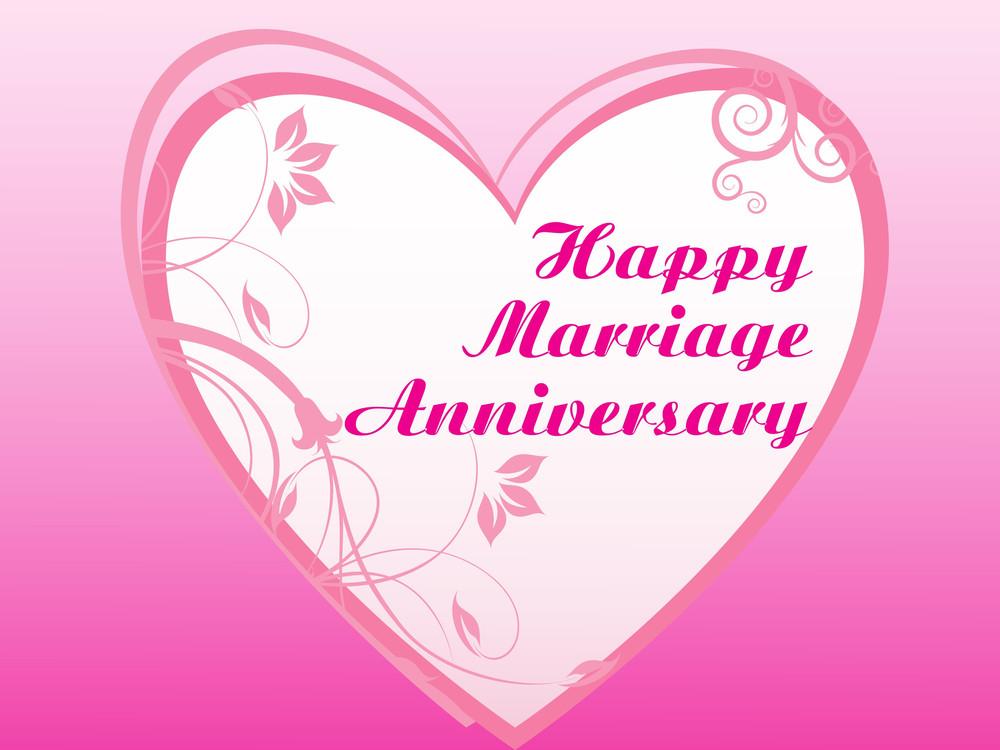 Elegant Romantic Vector Marriage Card