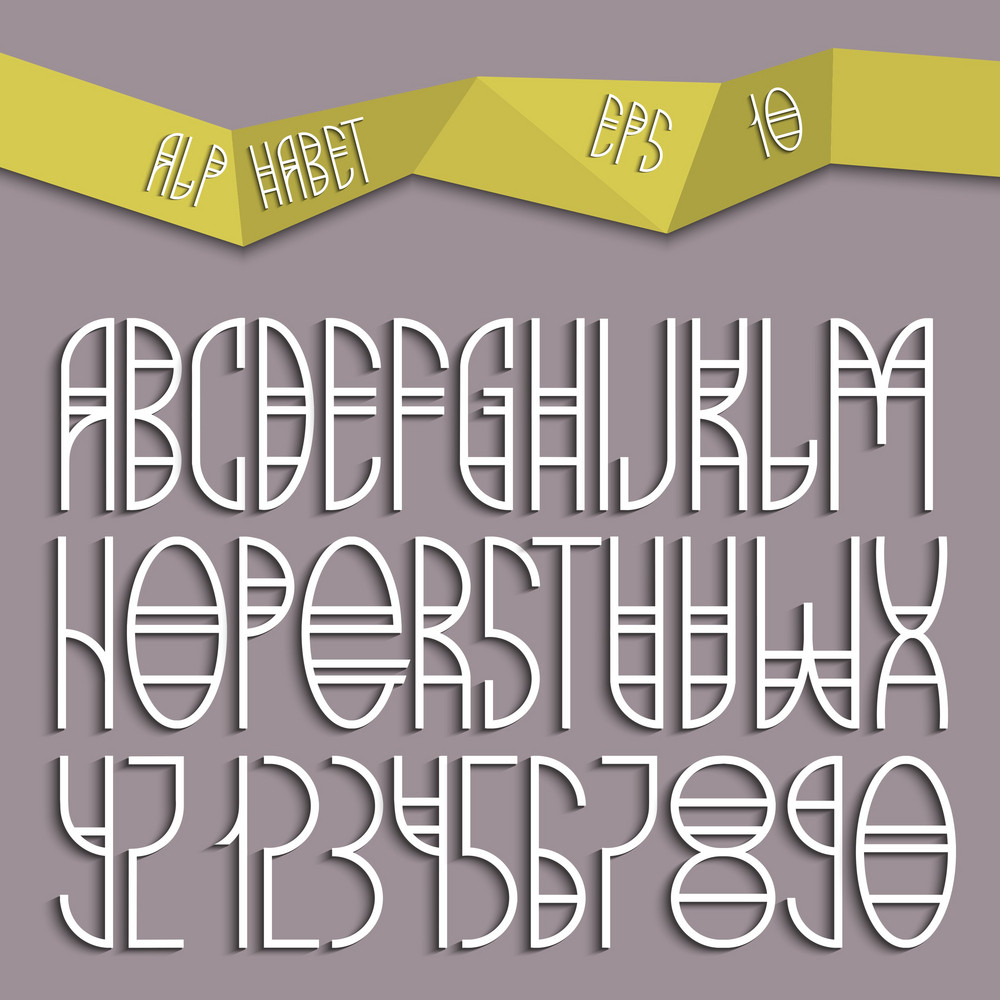 Elegant Simple Alphabet Letters And Numbers