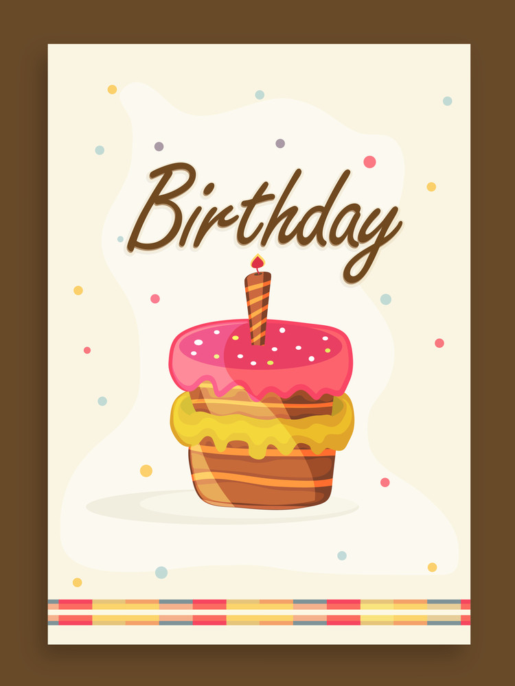 Elegant vintage invitation card design for Birthday Party ...