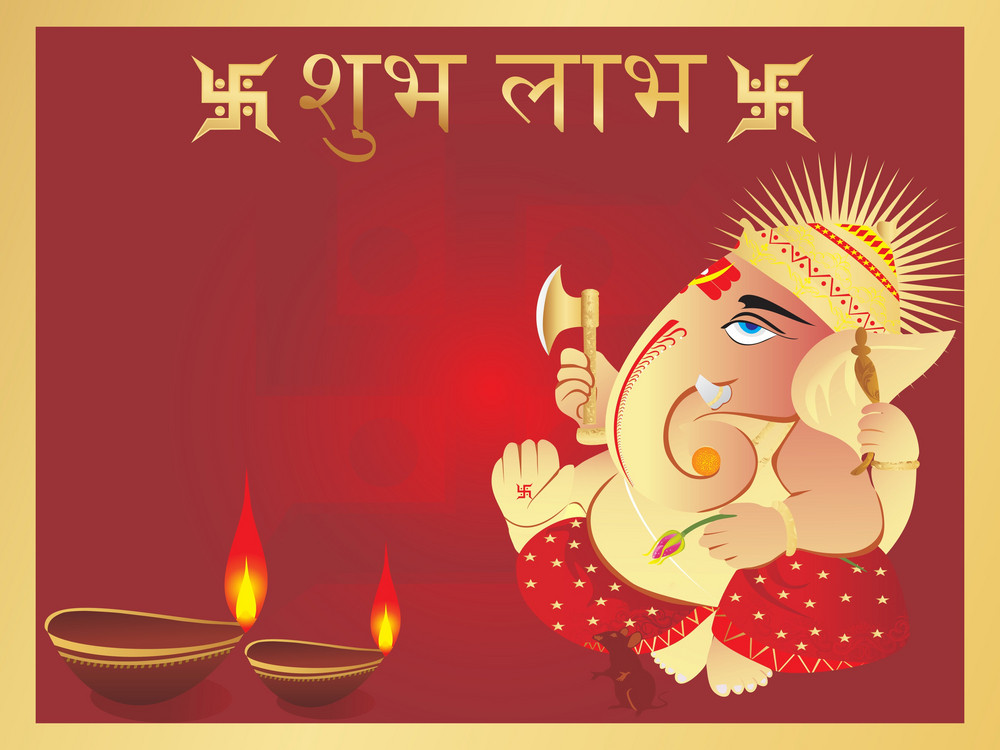 Elephant God Ganesha Abstract Design14