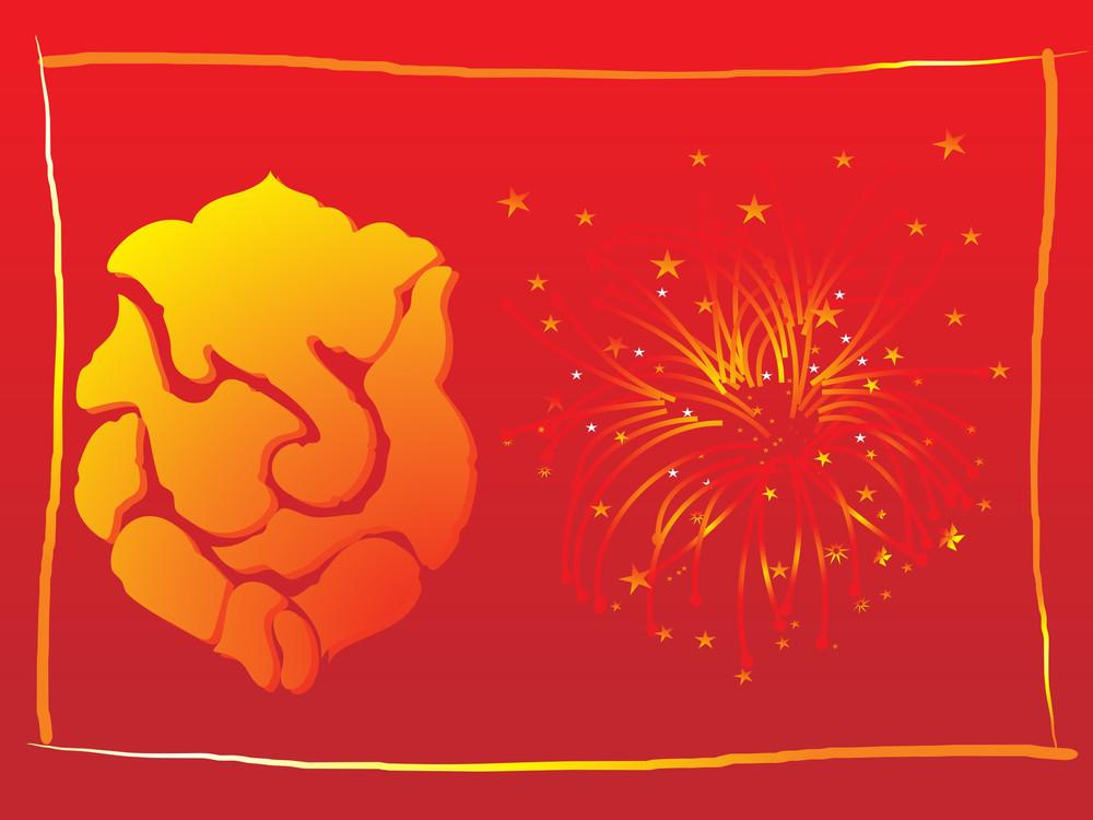 Elephant God Ganesha Abstract Design25