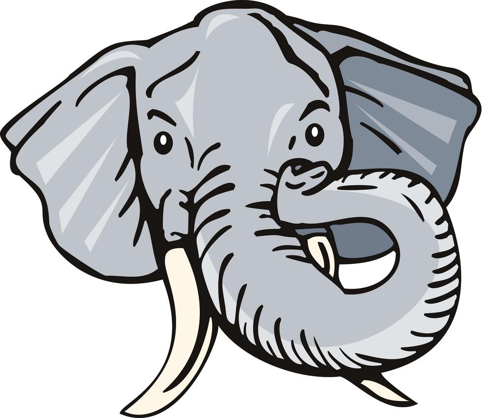 Elephant Head Front Retro