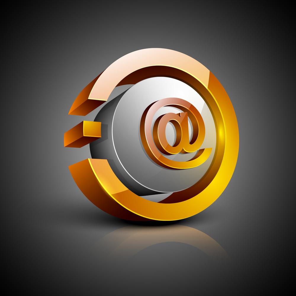 Email Address At Symbol Icon Set Royalty Free Stock Image