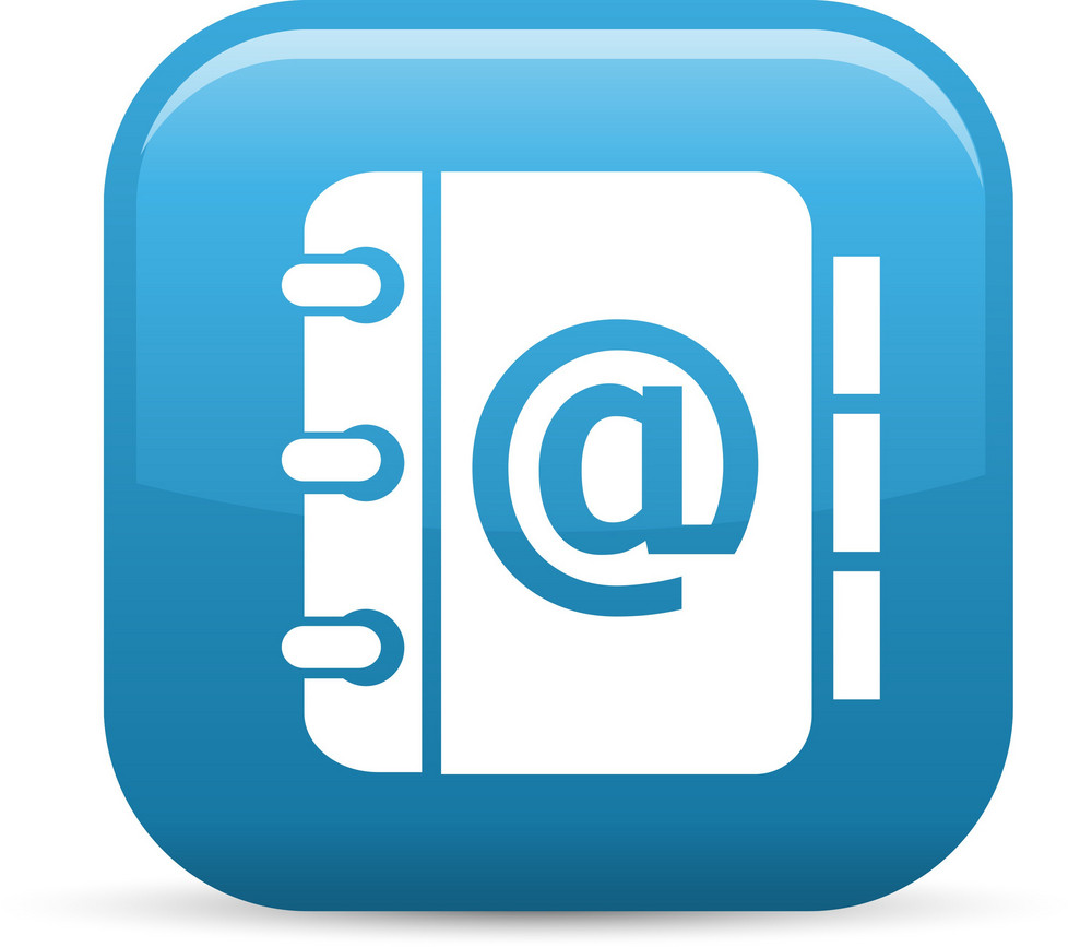 Email Address Book Elements Glossy Icon