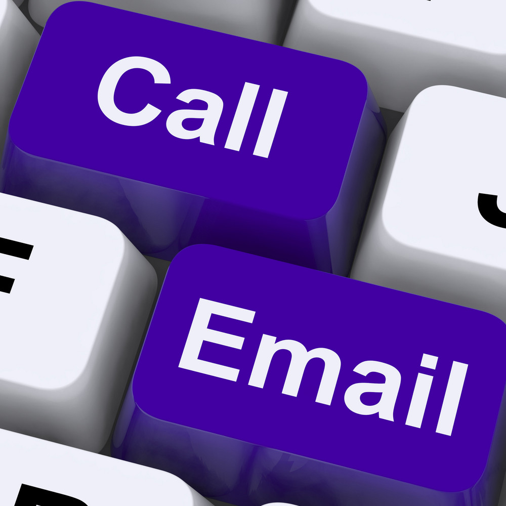 Email And Call Keys For Communications