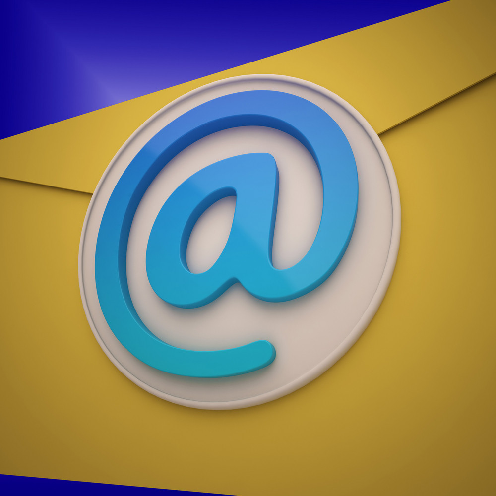 Email Envelope Shows Contact Mailing Online