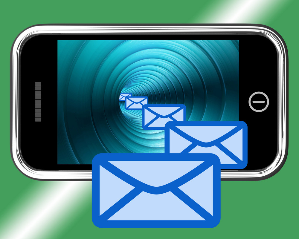 Email Envelopes On Mobile Showing Emailing Or Contacting