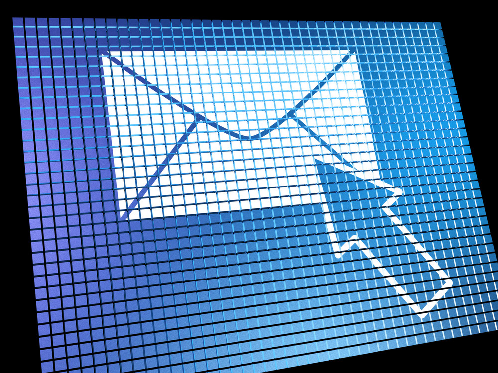 Email Icon Being Selected On Screen Showing Emailing Or Contacting