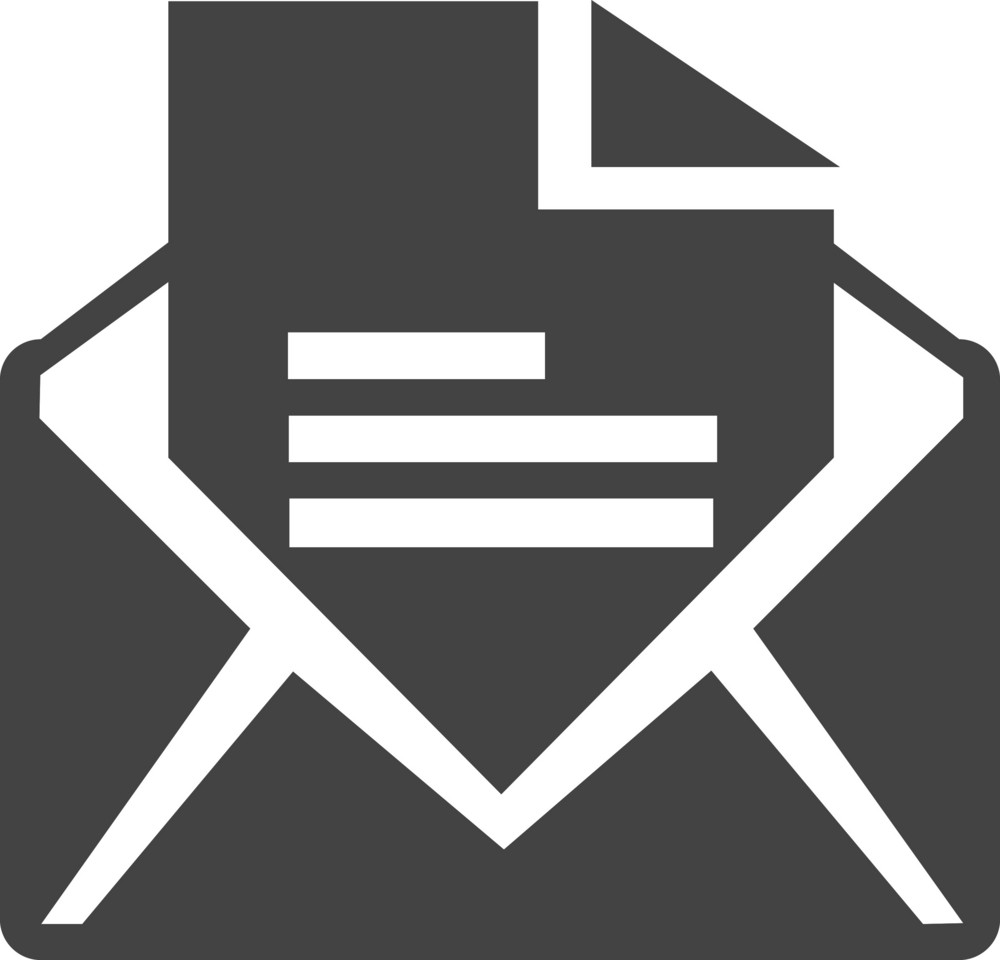 Email Open Glyph Icon