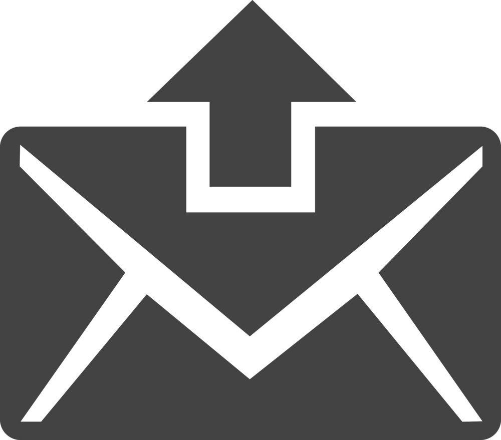 Email Sending Glyph Icon