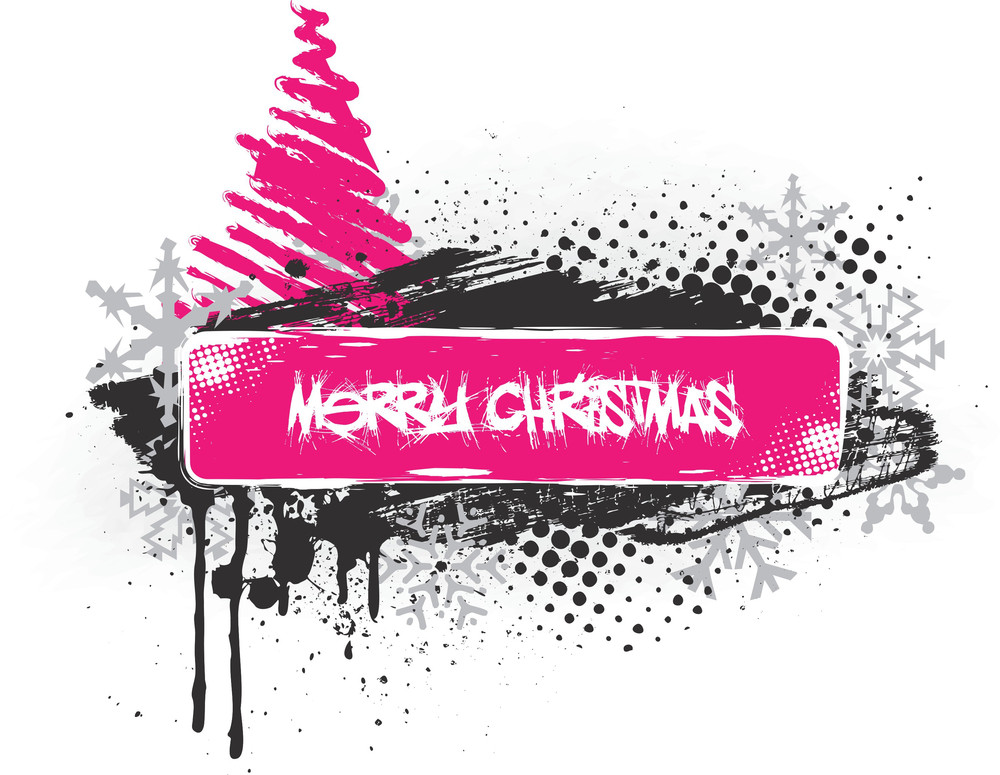 Emo Style Christmas Banner
