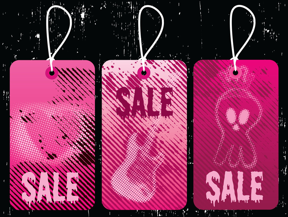 Emo Style Sale Tags