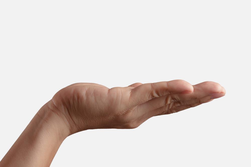 Empty Open Man Hand