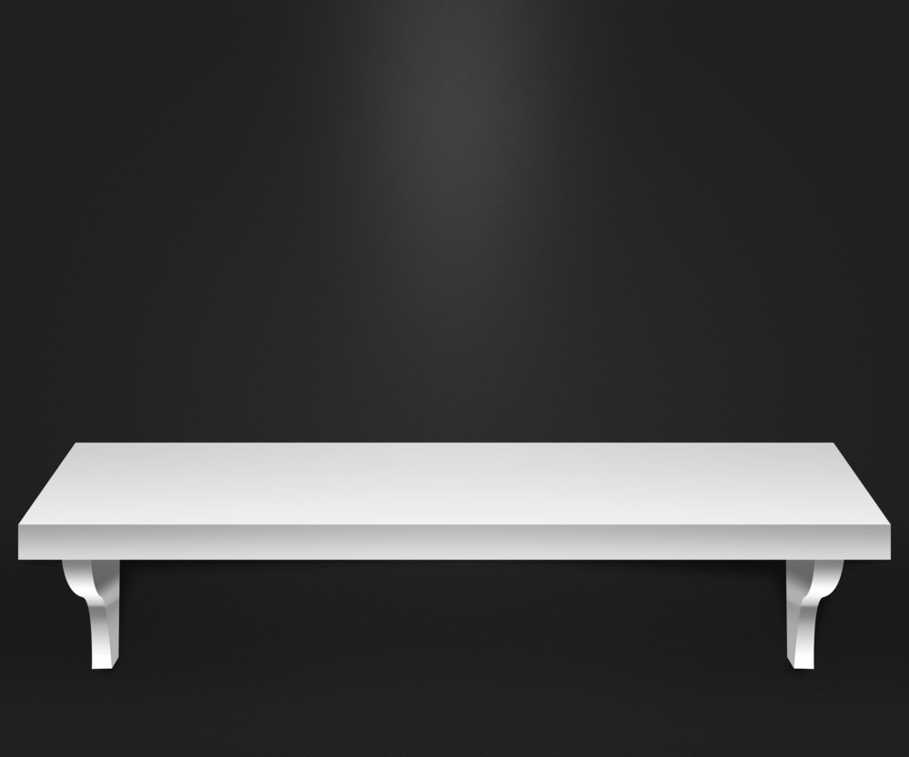 Empty Shelf Dark Background