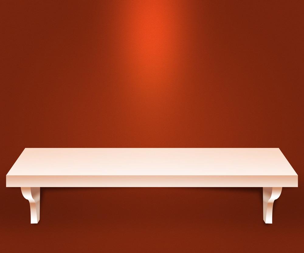 Empty Shelf Orange Background