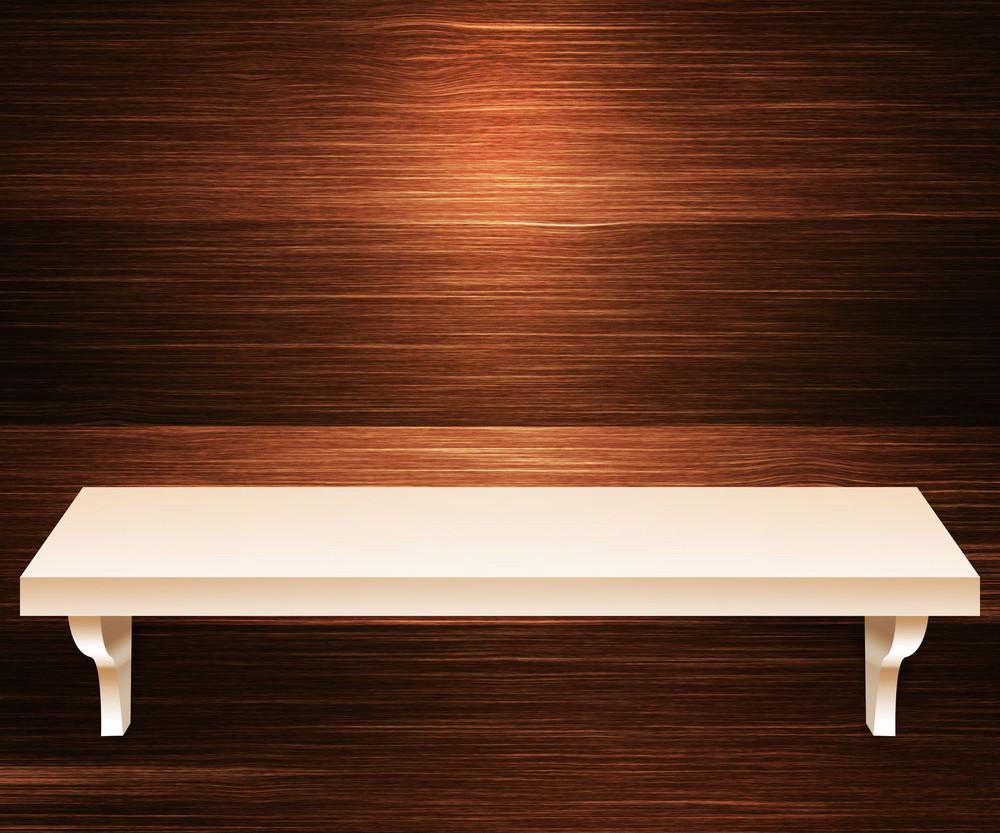 Empty Shelf Wooden Background