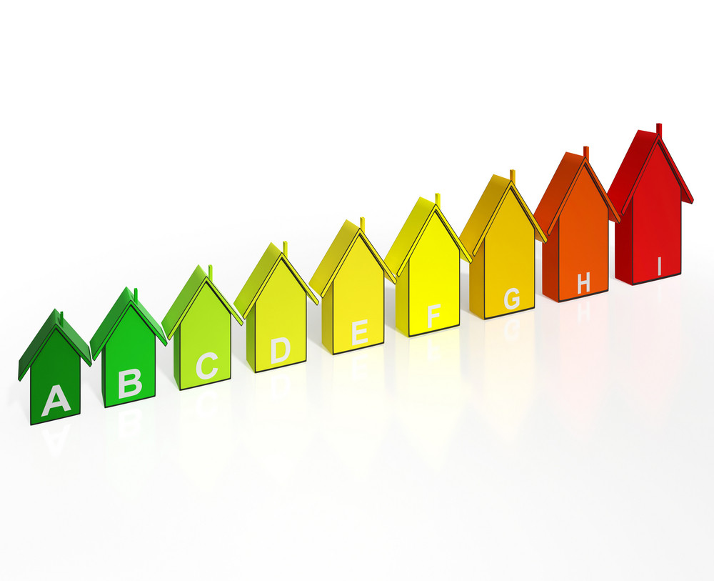 Energy Efficiency Rating Houses Show Eco Buildings