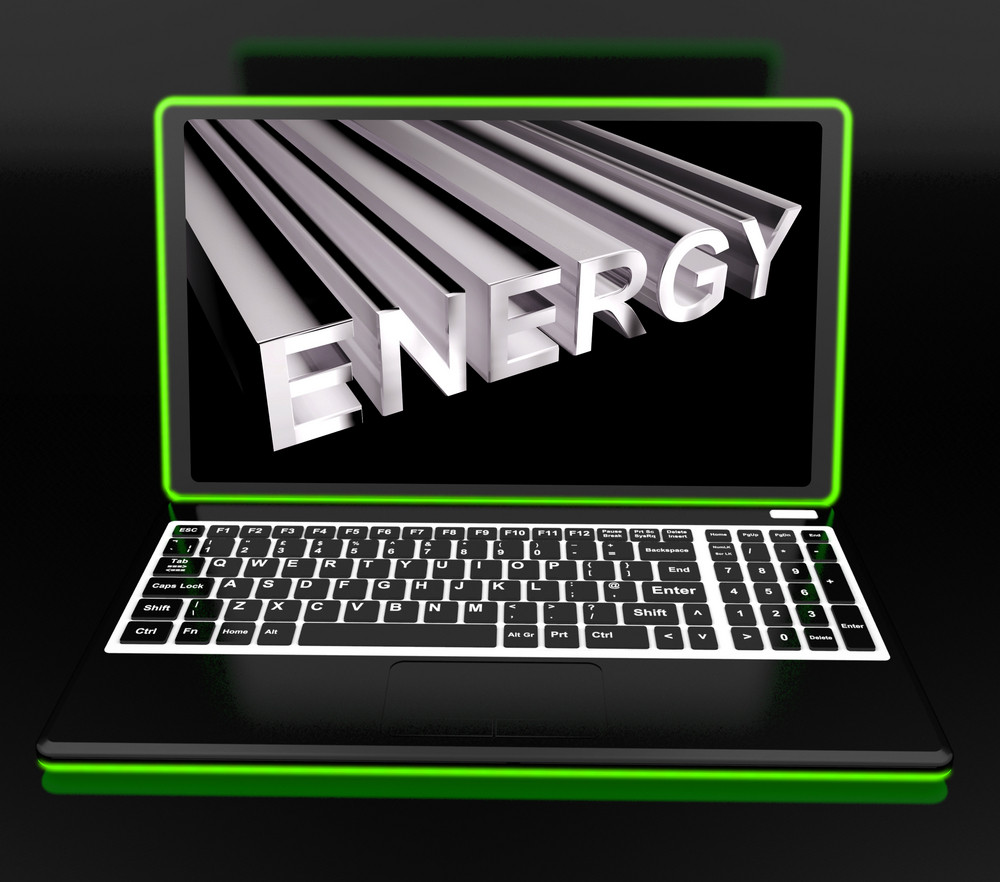 Energy On Laptop Showing Power