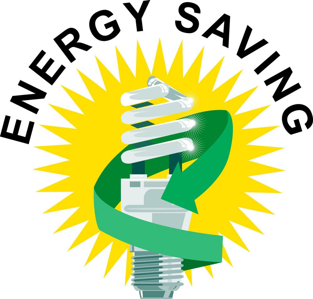 Energy Saving Label Lightbulb