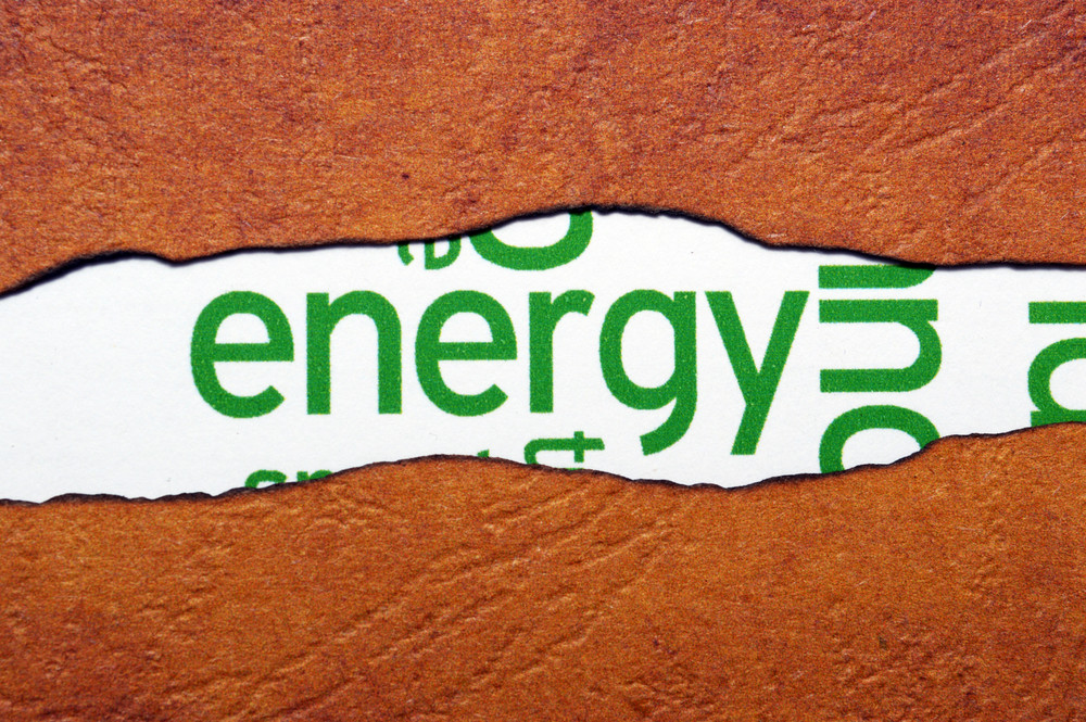 Energy Text On Torn Paper