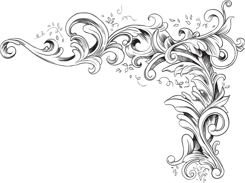 Engraved Vector Element