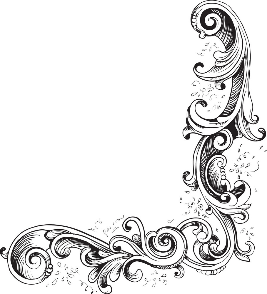 Engraved Vector Element