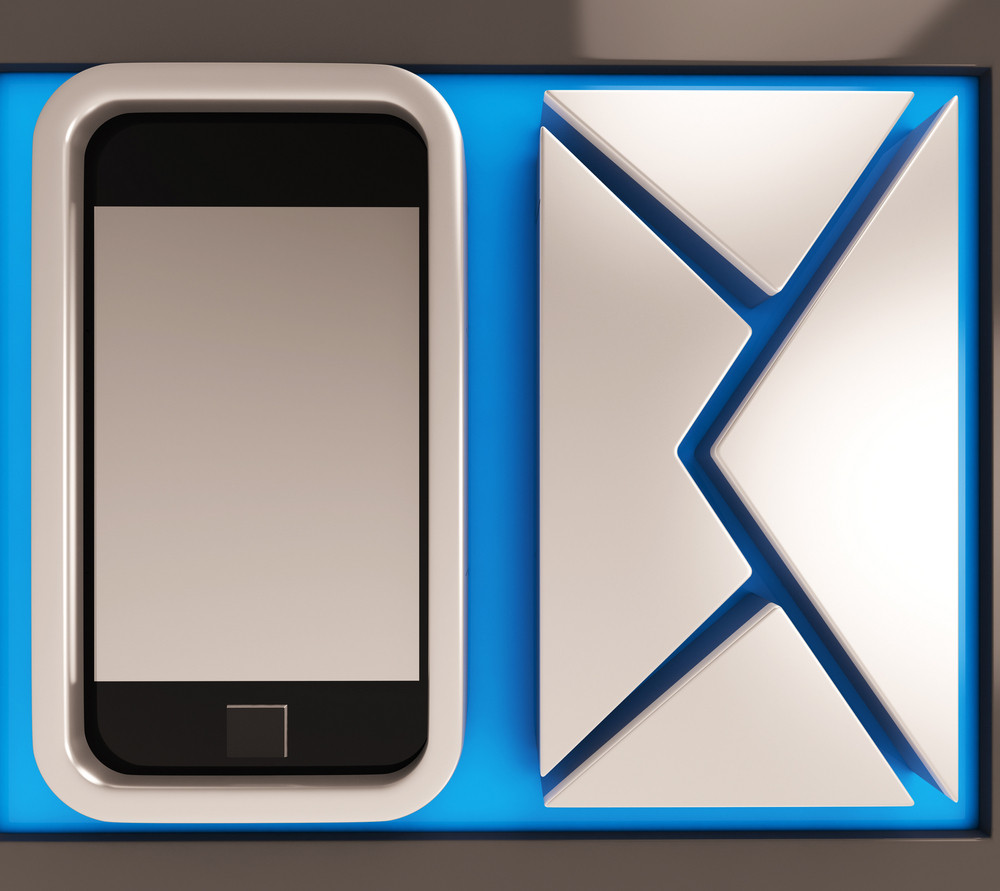 Envelope And Smartphone Showing Mobile S