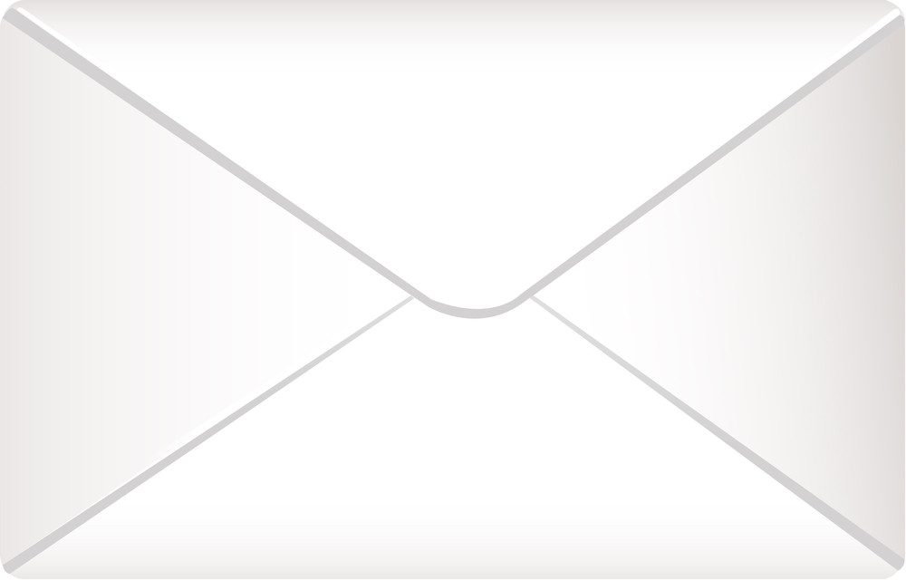 Envelope Icon On White Background