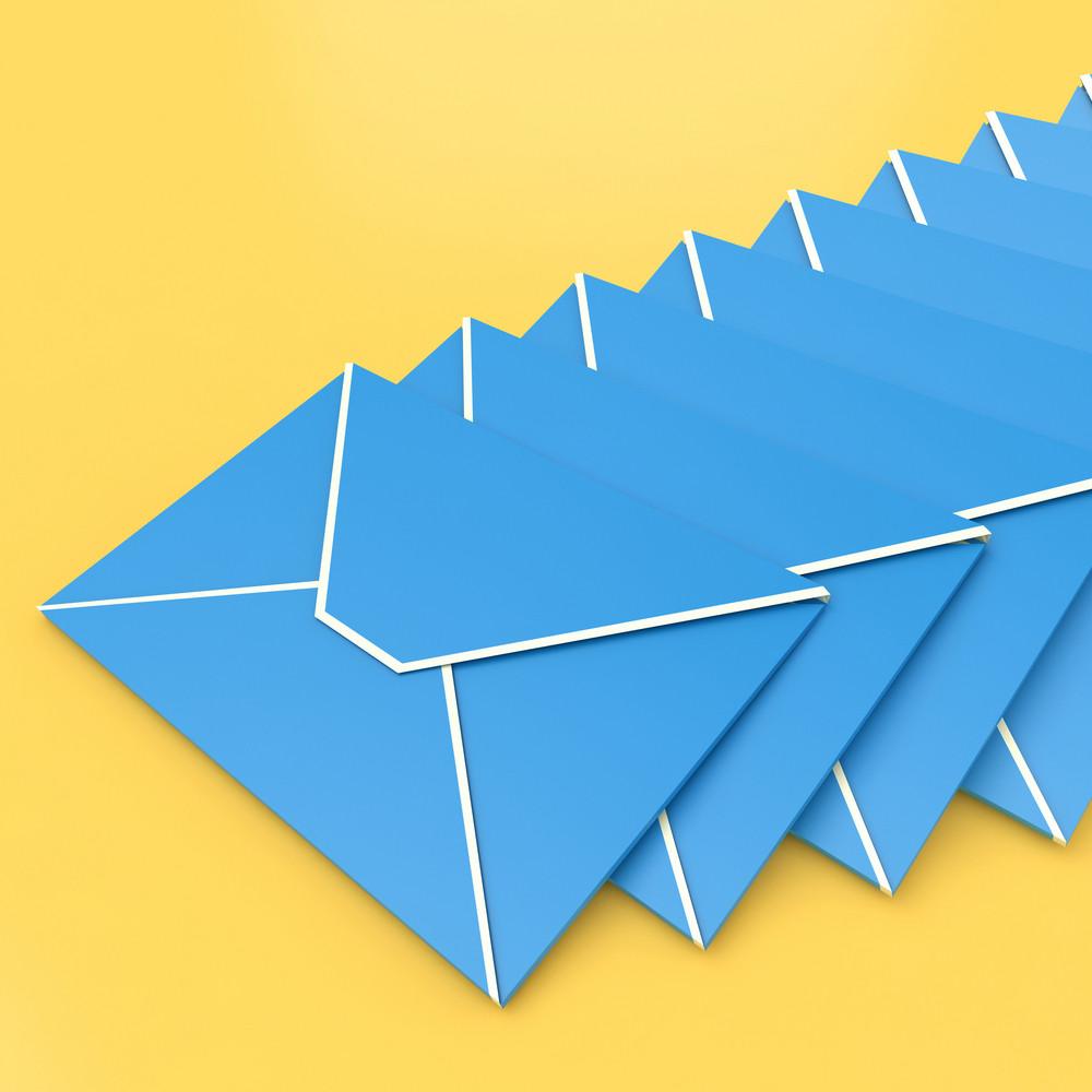 Envelopes Shows E-mail Symbol Contacting Sending Inbox
