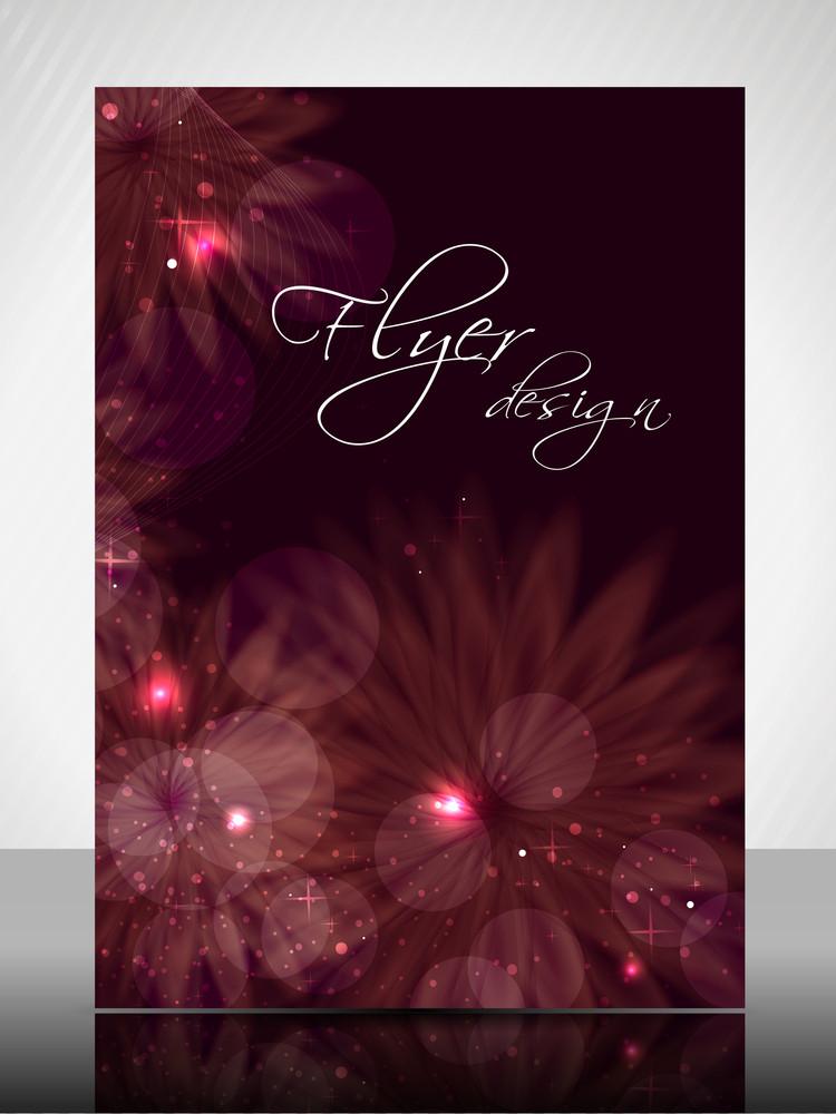 Eps 10 Flower Concept Flyer Design Presentation With Colorful Flower Editable Vector Illustration.