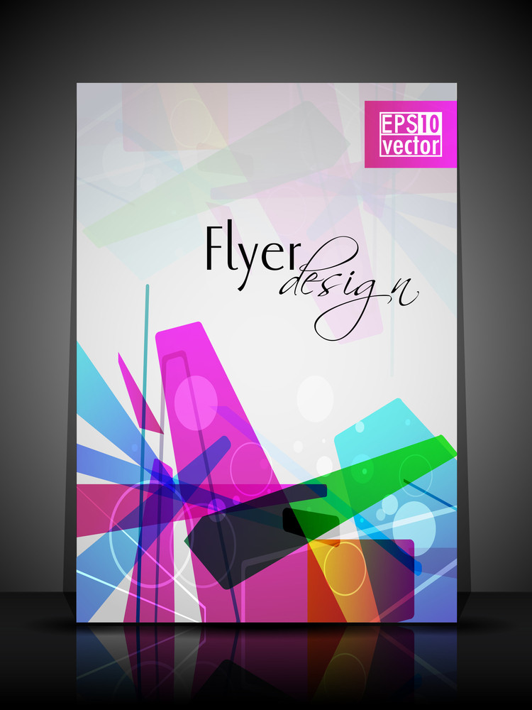 Eps 10 Flyer Design Presentation With Colorful Abstract And Editable Vector Illustration
