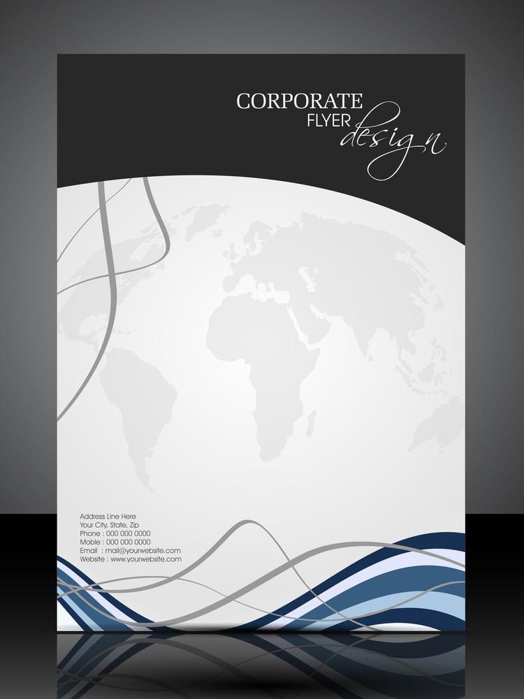 Eps 10 Professional Corporate Flyer Design Presentation. Editable Vector Illustration