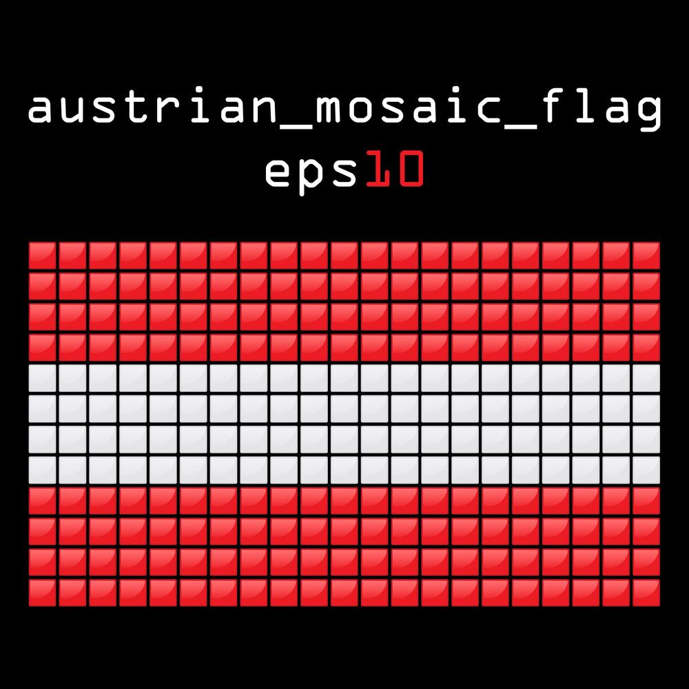 Eps10 Mosaic Austrian Flag