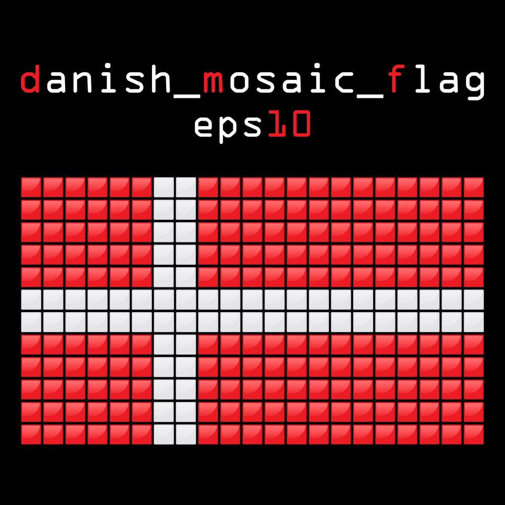 Eps10 Mosaic Danish Flag
