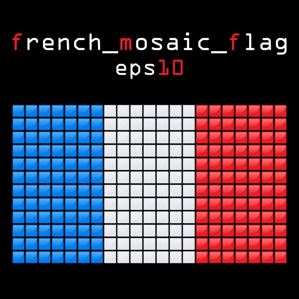 Eps10 Mosaic French Flag